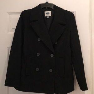 Old Navy women's black pea coat, Small